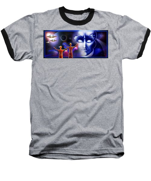 Imagine - What Is Out  There Baseball T-Shirt