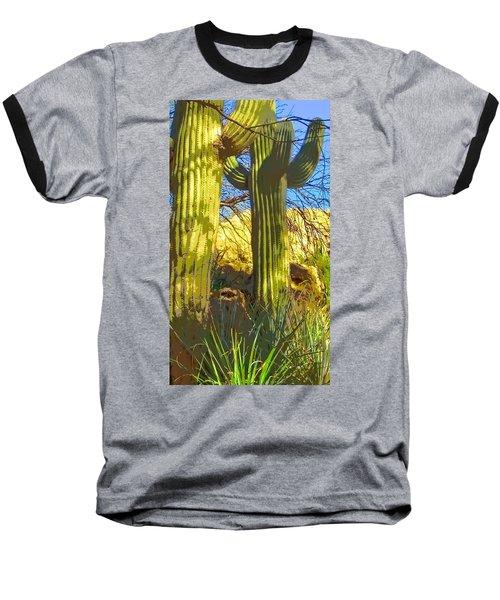 In The Shadow Of Saguaros Baseball T-Shirt