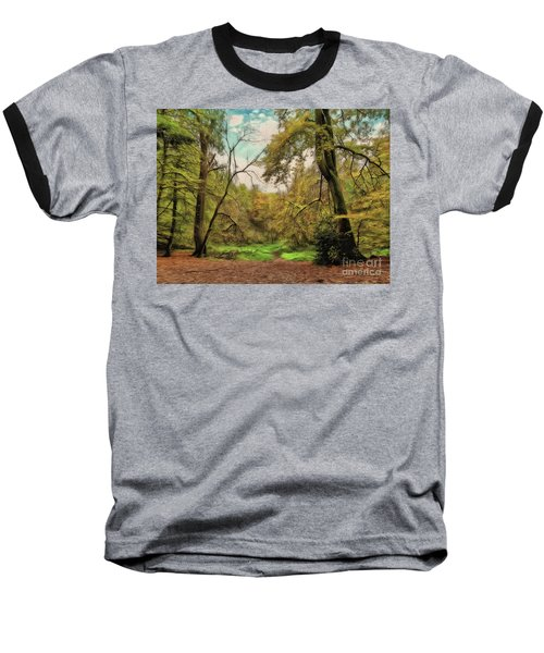 Baseball T-Shirt featuring the photograph In The Woods by Leigh Kemp
