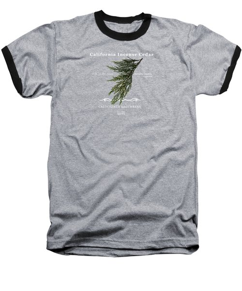 Incense Cedar - White Text Baseball T-Shirt