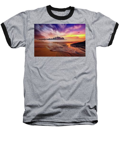 Incoming Tide At Sunset Baseball T-Shirt