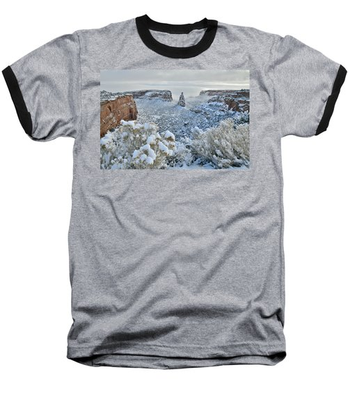 Independence Monument In Snow Baseball T-Shirt