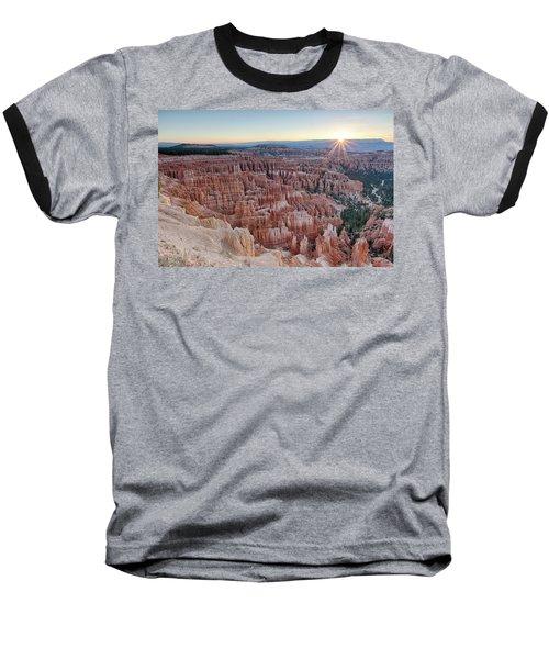 Inspiration Point Sunrise Bryce Canyon National Park Summer Solstice Baseball T-Shirt
