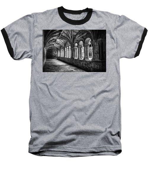 Interior Corridors Of The Monastery Of Santo Estevo De Ribas Del Sil Baseball T-Shirt