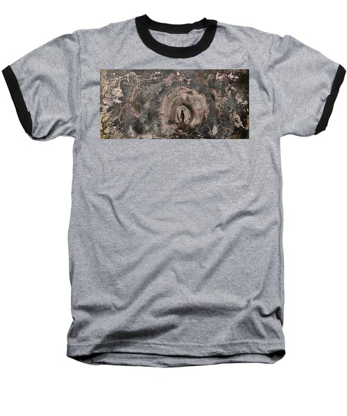 Baseball T-Shirt featuring the painting Into The Fog by 'REA' Gallery