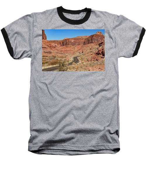 Baseball T-Shirt featuring the photograph Into The Red Cliffs by Andy Crawford