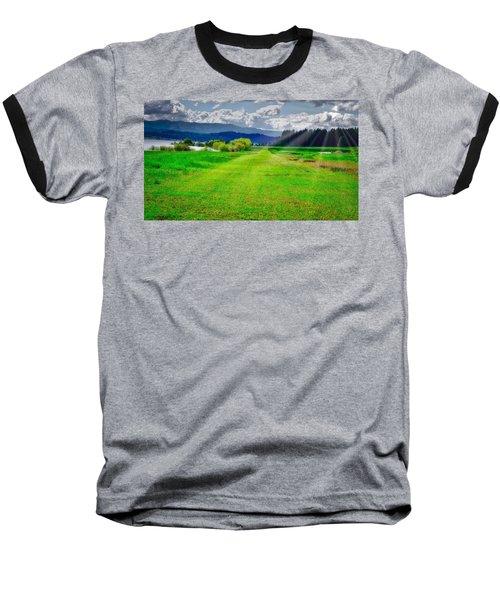 Inviting Airstrip Baseball T-Shirt