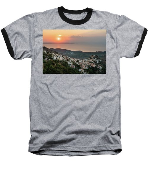 Ioulis Town Sunset, Kea Baseball T-Shirt