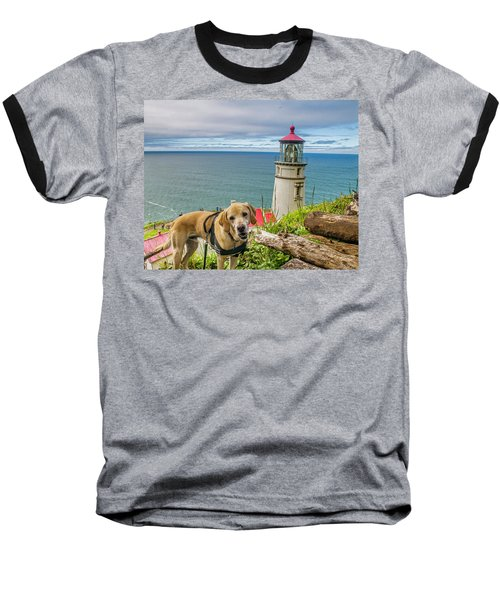 Jackson At Heceta Head Lighthouse Baseball T-Shirt