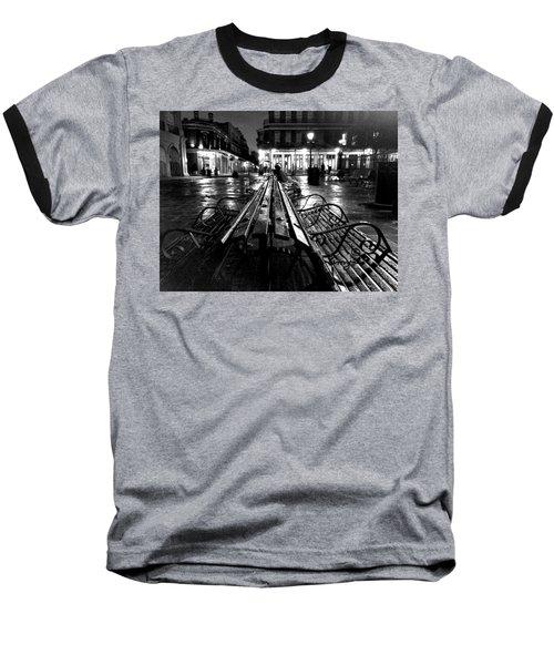 Jackson Square In The Rain Baseball T-Shirt
