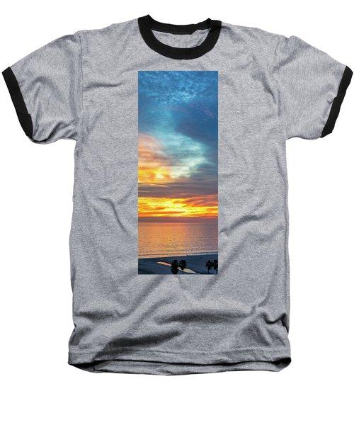 January Sunset - Vertirama Baseball T-Shirt