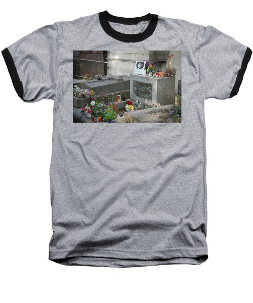Jim Morrison's Grave Baseball T-Shirt
