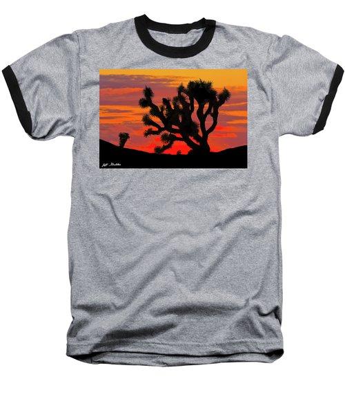 Joshua Tree At Sunset Baseball T-Shirt