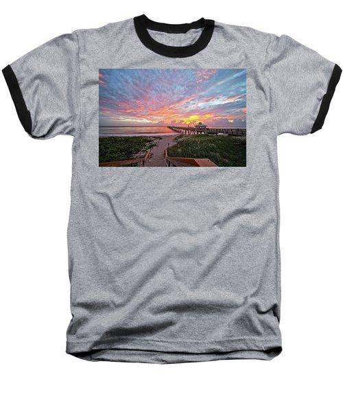 Juno Beach Pier Baseball T-Shirt