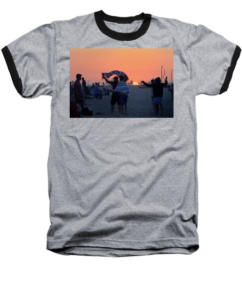 Baseball T-Shirt featuring the photograph Just Another California Sunset by Ron Cline