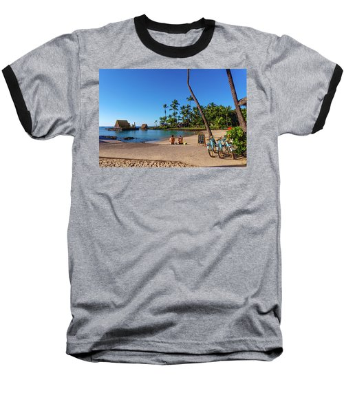 Kamakahonu Beach Baseball T-Shirt
