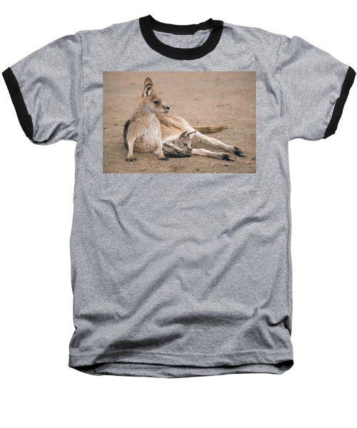 Kangaroo Outside Baseball T-Shirt