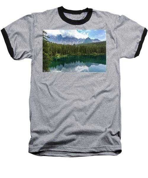 Karersee And Latemar Baseball T-Shirt