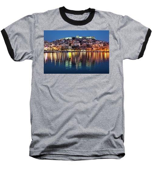 Kavala Town At Night Baseball T-Shirt