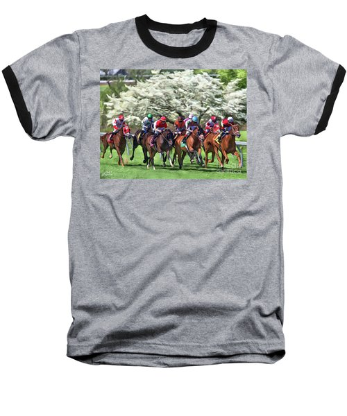 Keeneland Down The Stretch Baseball T-Shirt