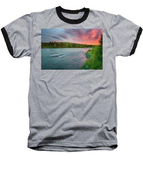 Kenai River Alaska Sunset Baseball T-Shirt