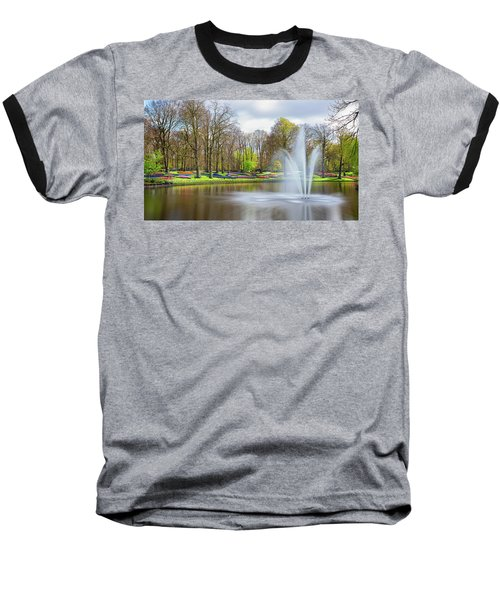 Keukenhof Tulip Garden Holland Baseball T-Shirt