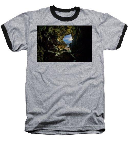 Keyhole Cave In Malibu Baseball T-Shirt