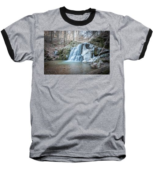 Kilgore Falls In Winter Baseball T-Shirt