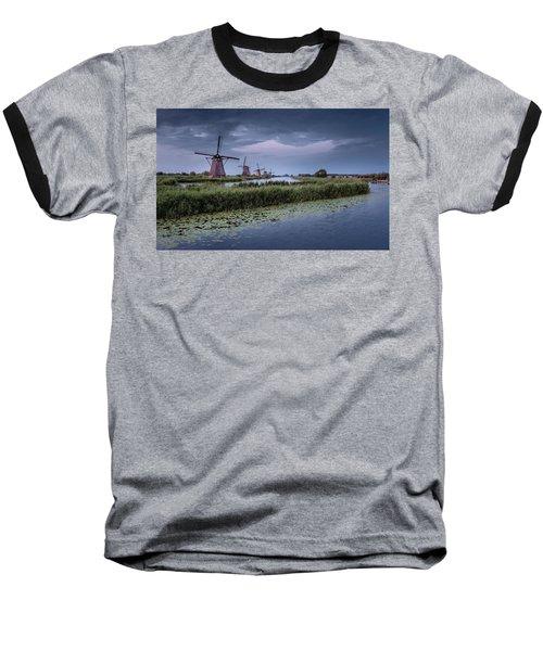 Kinderdijk Dark Sky Baseball T-Shirt