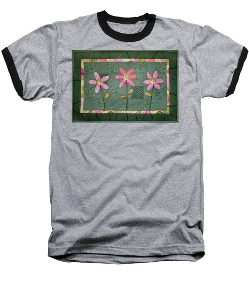 Kiwi Flowers Baseball T-Shirt