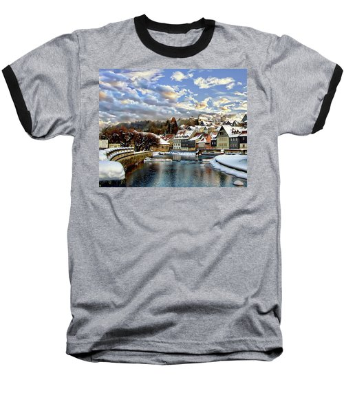 Kronach Winter Scene Baseball T-Shirt