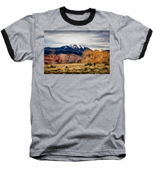 Baseball T-Shirt featuring the photograph La Sal Mountain Range by David Morefield