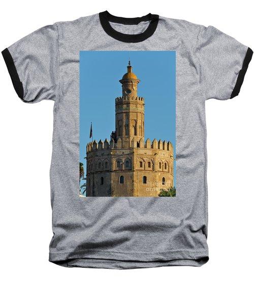 La Torre De Oro Detail. Seville Baseball T-Shirt