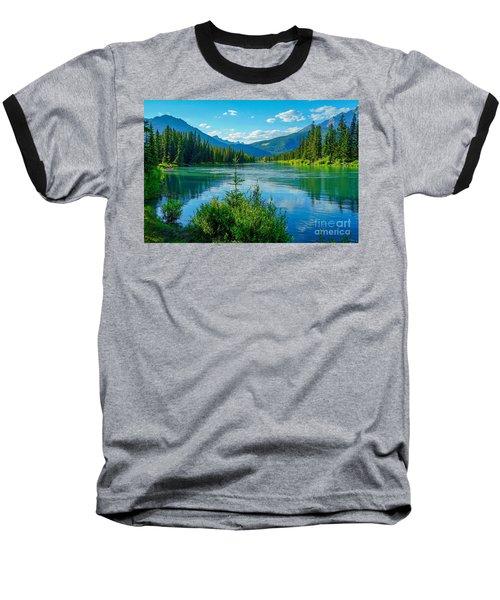 Lake At Banff Indian Trading Post Baseball T-Shirt