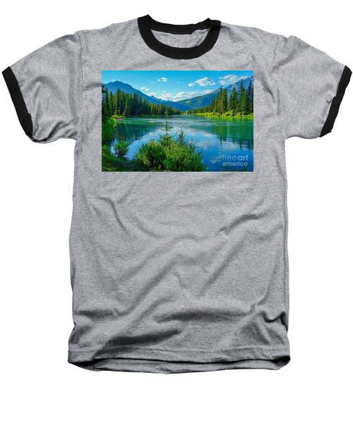 Lake At Banff Indian Trading Post Baseball T-Shirt