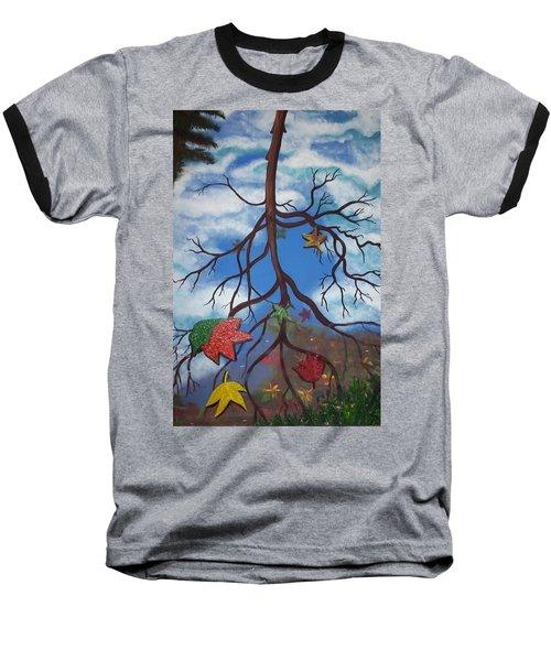 Lake Reflections - Autumn Baseball T-Shirt