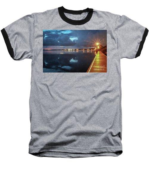 Lamp Post Starbursts Baseball T-Shirt