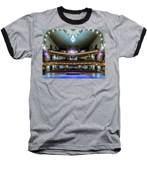 Landers Theatre Stage View Baseball T-Shirt