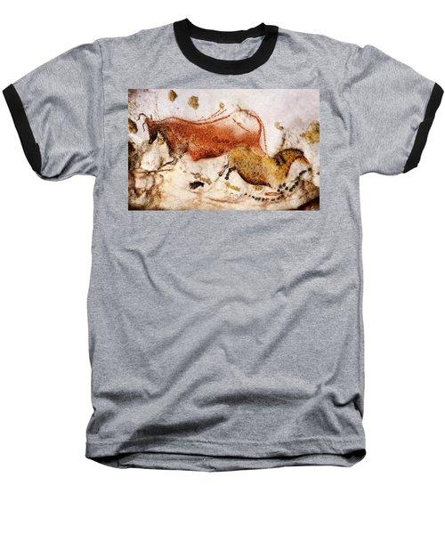 Lascaux Cow And Horse Baseball T-Shirt