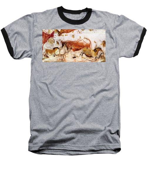 Lascaux Cow And Horses Baseball T-Shirt