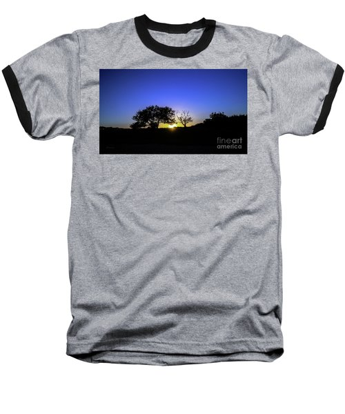 Last Light Texas Hill Country Paradise Canyon Sunset 8053a Baseball T-Shirt