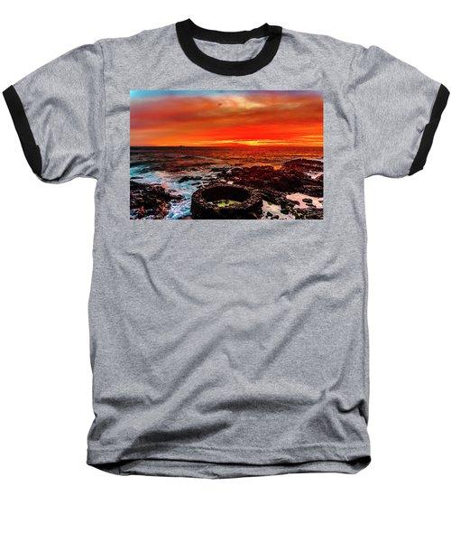 Lava Bath After Sunset Baseball T-Shirt