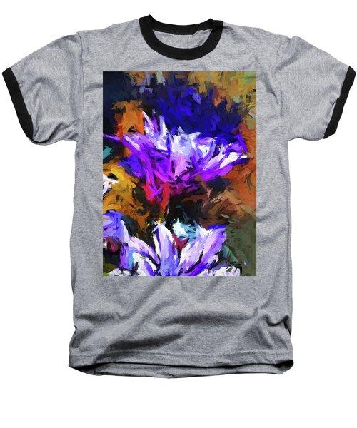 Lavender Flower And The Cobalt Blue Reflection Baseball T-Shirt