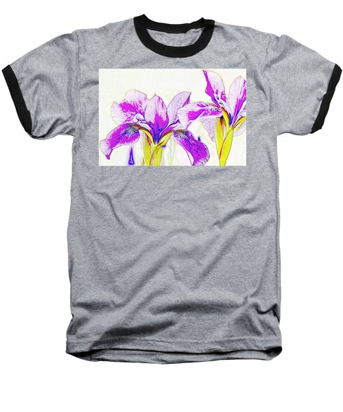 Lavender Irises Baseball T-Shirt
