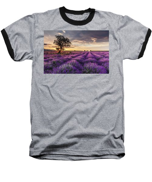 Lavender Sunrise Baseball T-Shirt