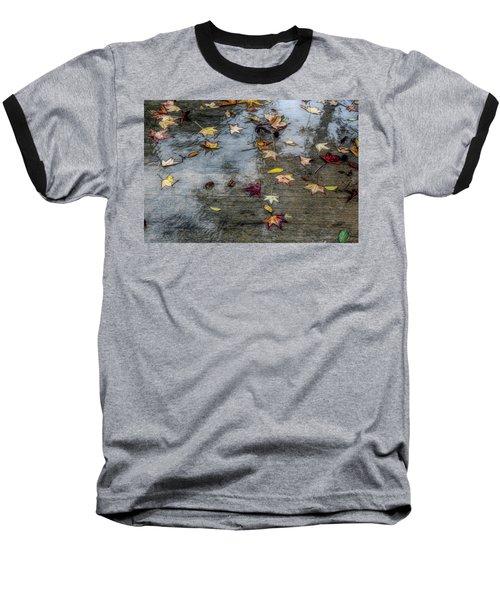 Leaves In The Rain Baseball T-Shirt