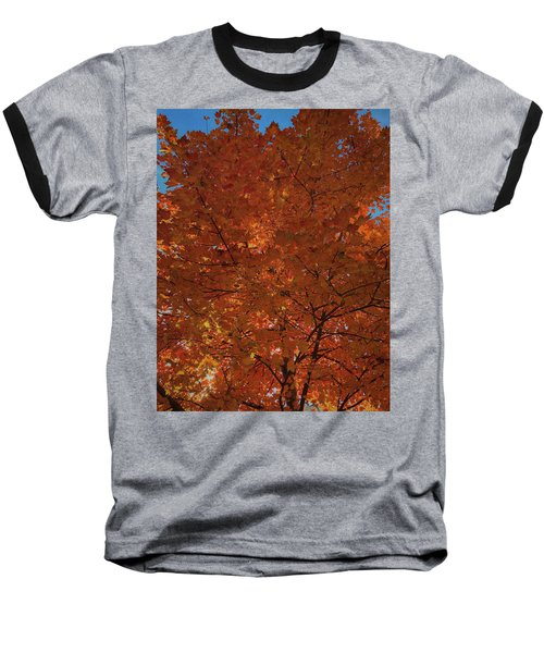 Leaves Of Fire Baseball T-Shirt