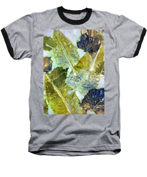 Leaves Of Nature Eco Dyed Print Baseball T-Shirt