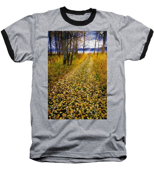 Leaves On Trail Baseball T-Shirt