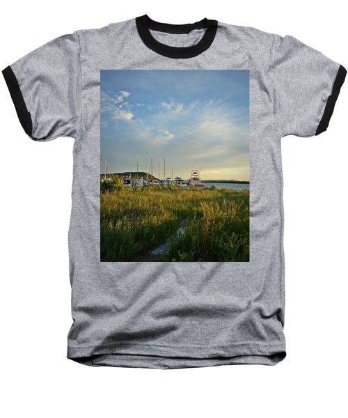 Leland Harbor At Sunset Baseball T-Shirt